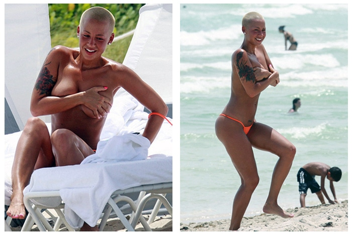 Amber Rose nude titties with Kanye West (3)