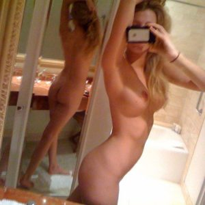 Blake Lively nude bathroom pic showing off ass and legs and tits