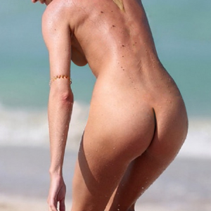 Candice Swanepoel nude on the beach