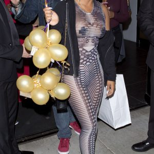 Christina see through outfit on bday