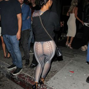 Christina Milian thong in sheer outfit exposed