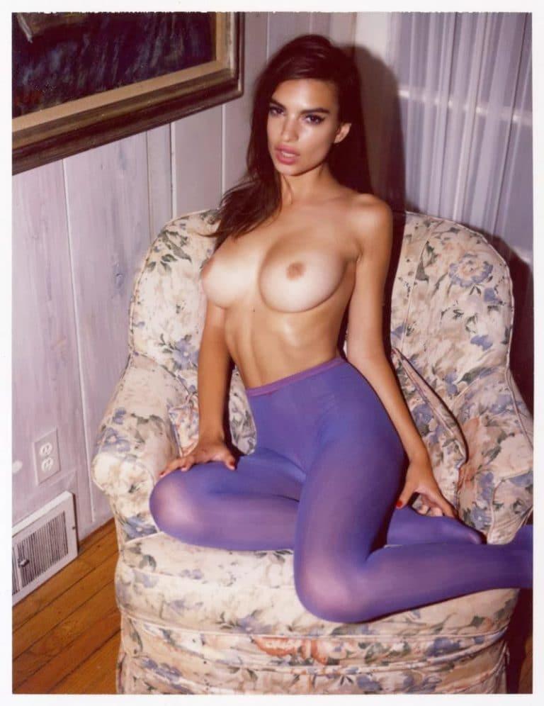 Emily Ratajkowski nude polaroid by Jonathan Leder