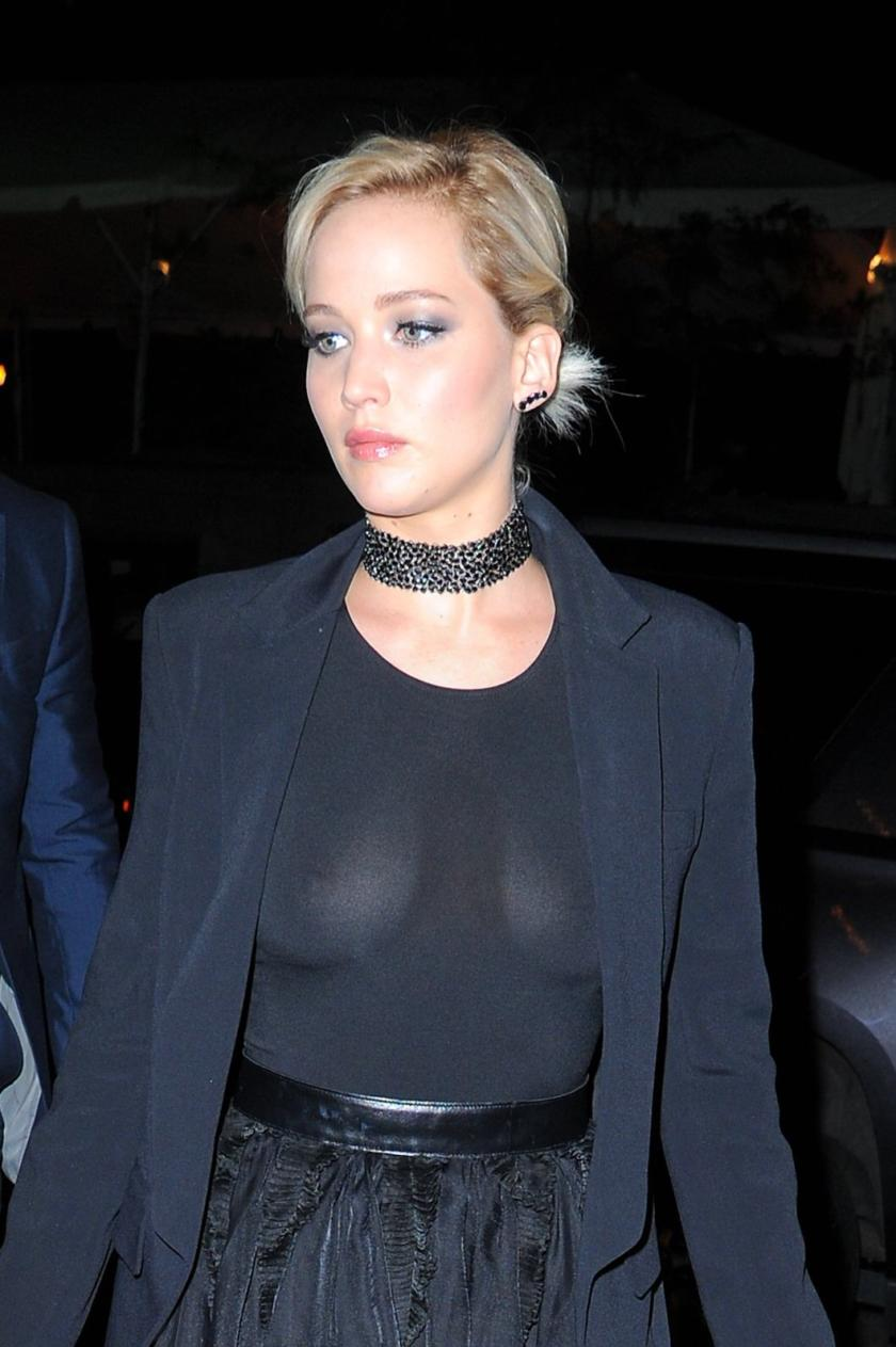 Jennifer Lawrence see through top