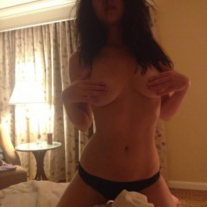 Jennifer Lawrene in black thong topless while grabbing her nipples