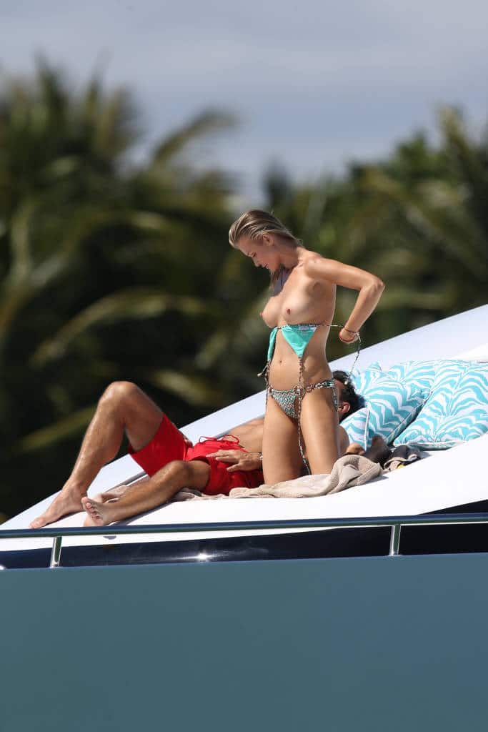 Joanna Krupa boobs on a yacht