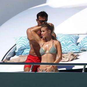 Joanna Krupa on a yacht with boyfriend