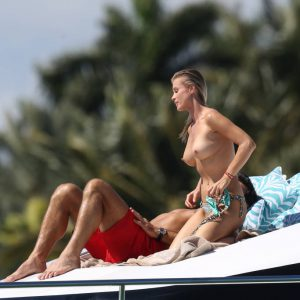Joanna Krupa tits on a yacht in miami