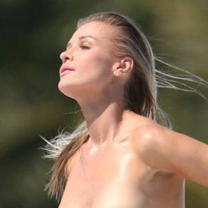 Joanna Krupa Topless on a Yacht