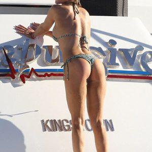 Joanna Krupa on a yacht showing off ass