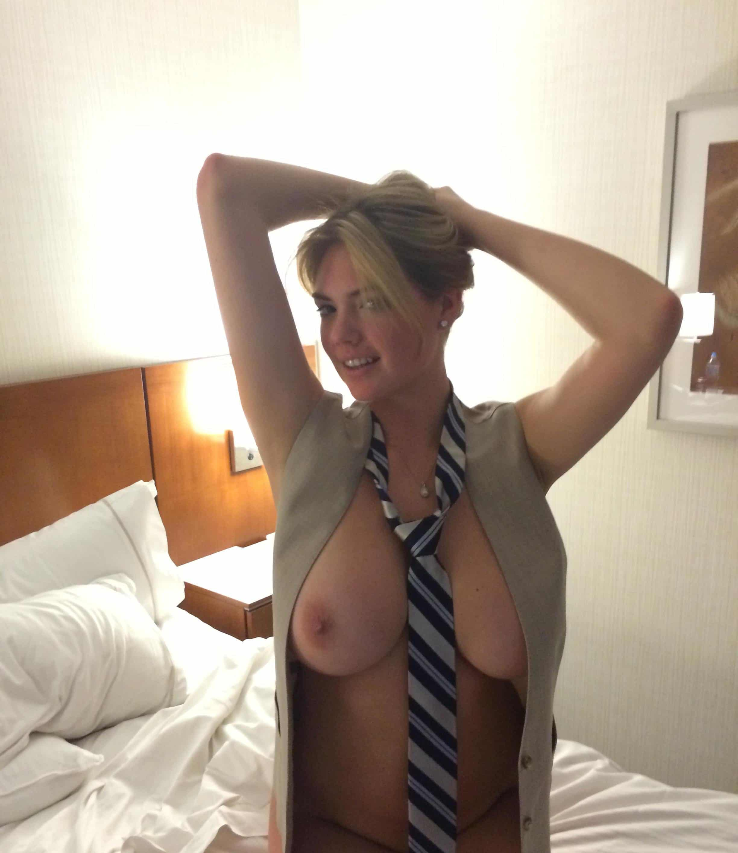 Kate Upton topless with tie around her neck fappening leak pic