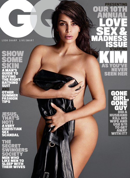 Kim Kardashian on the front cover of GQ magazine