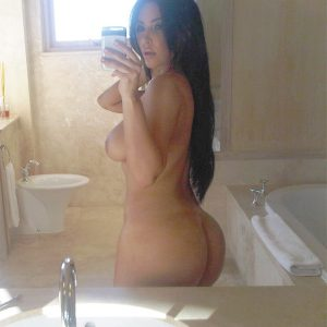 Kim Kardashian completely naked bathroom mirror selfie