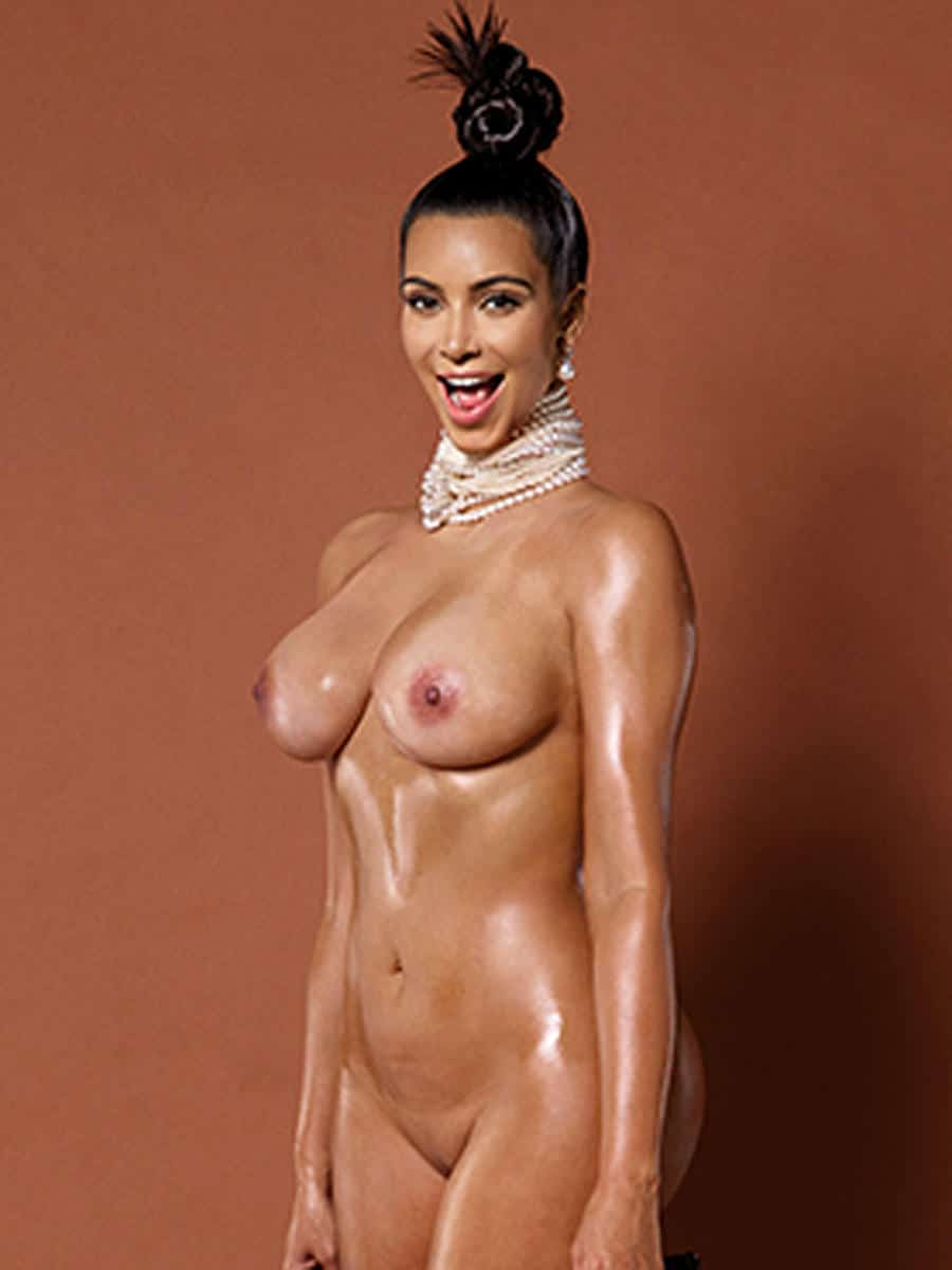 Kim Kardashian completely nude for paper magazine