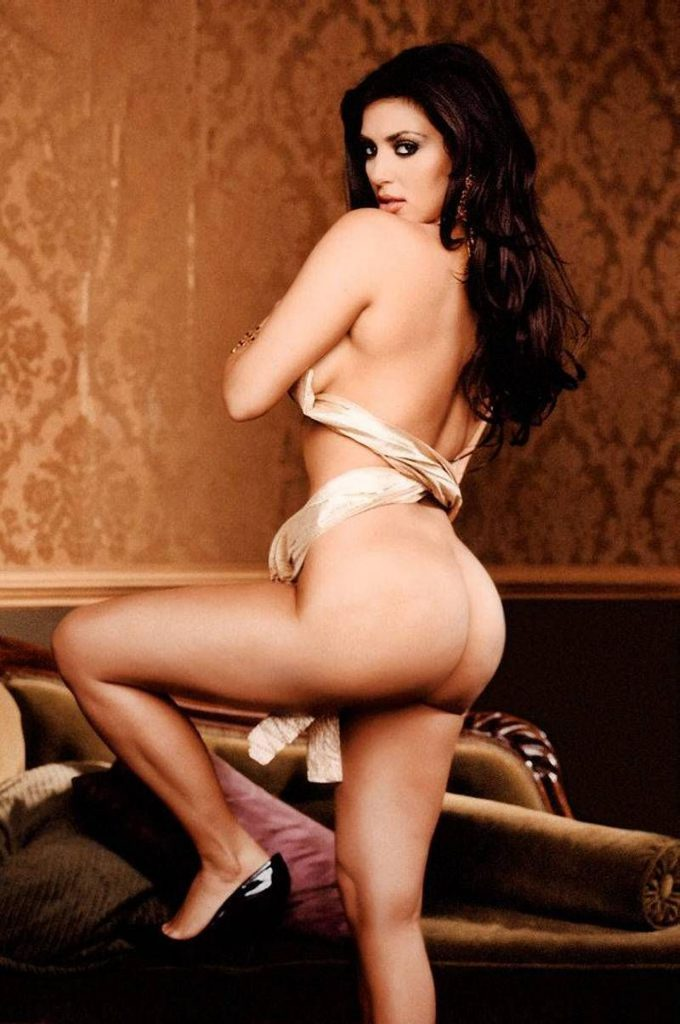 kim kardashian naked wearing heels and ass exposed playboy