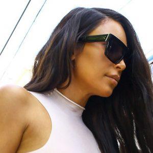 Kim Kardashian Nipples Visible In See Through White Top!