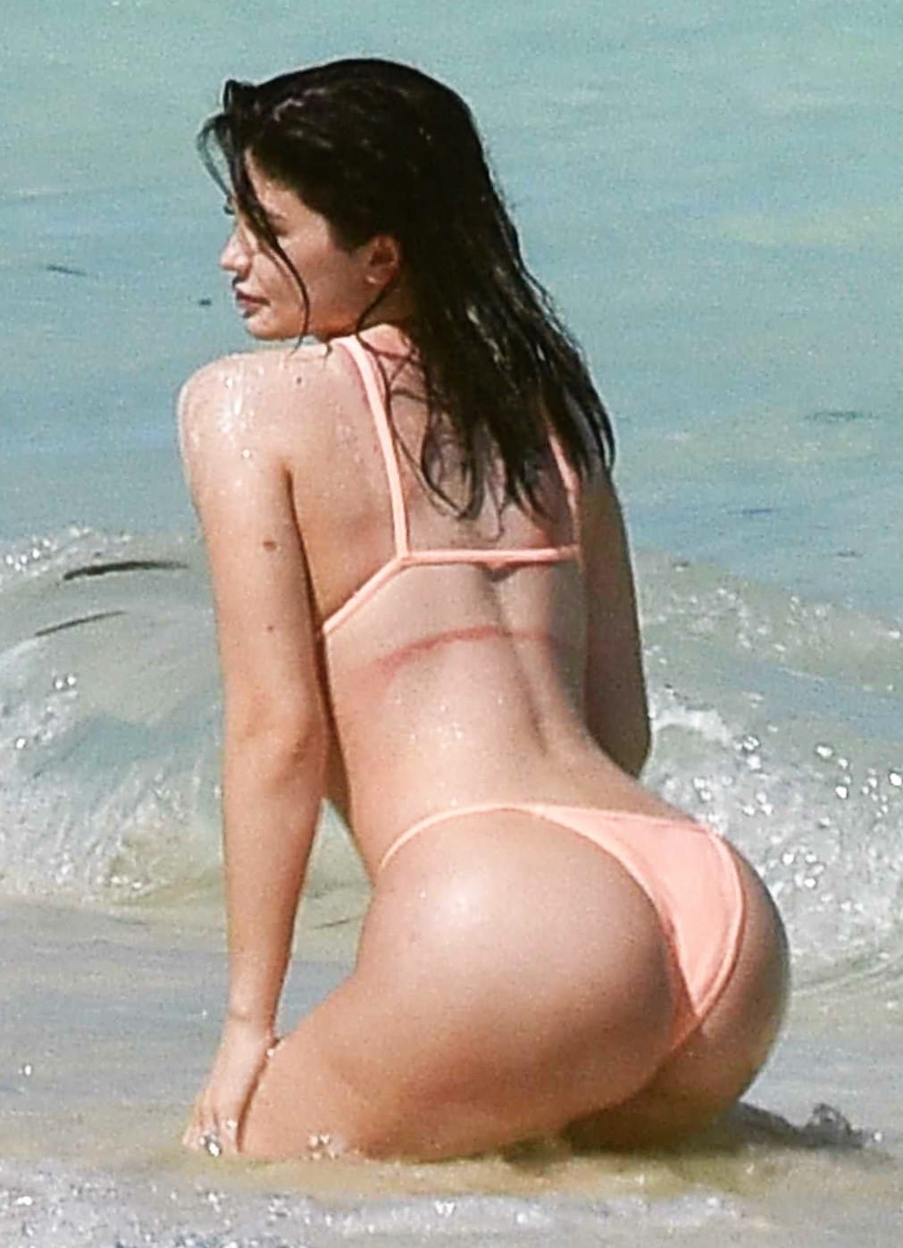 Kylie Jenner bikini pic on her birthday showing off her ass!