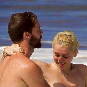 Miley Cyrus Nude on the Beach
