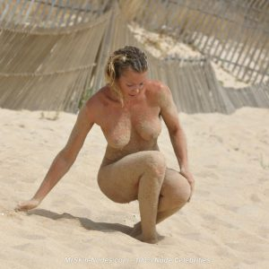 nell mcandrews completely nude on the beach