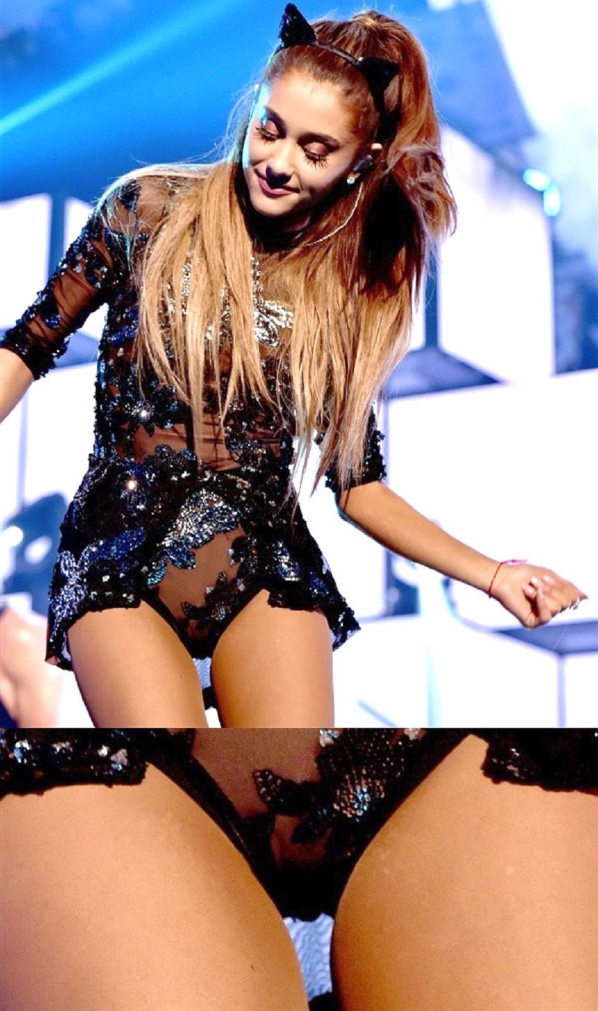 Grande upskirt ariana Ariana Grande