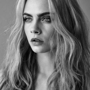 model Cara Delevingne in Esquire magazine up close