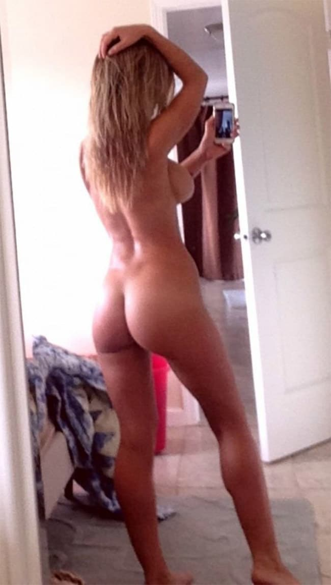 charlotte mckinney showing off ass in selfie leaked pic