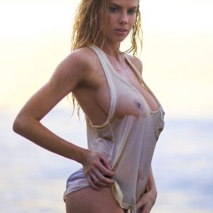 beauty charlotte mckinney nipples exposed with wet top