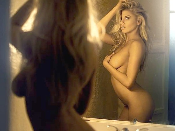 charlotte mckinney totally naked pic in front of mirror
