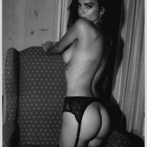 hot polaroid of emily ratajkoski topless and ass cheeks exposed