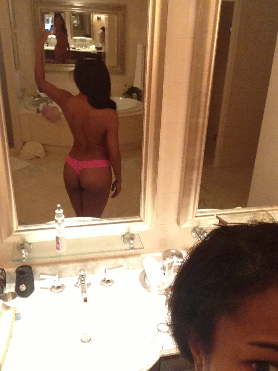model and actress gabrielle union takes a thong ass selfie
