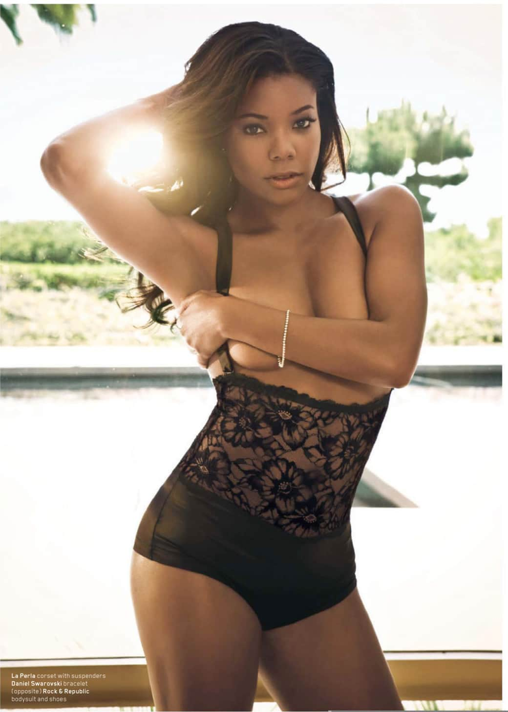 Gabrielle Union braless