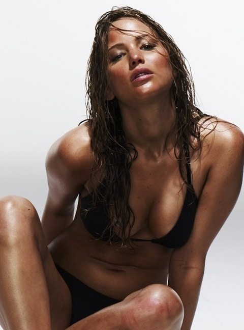 actress jennifer lawrence posing sexy for esquire magazine