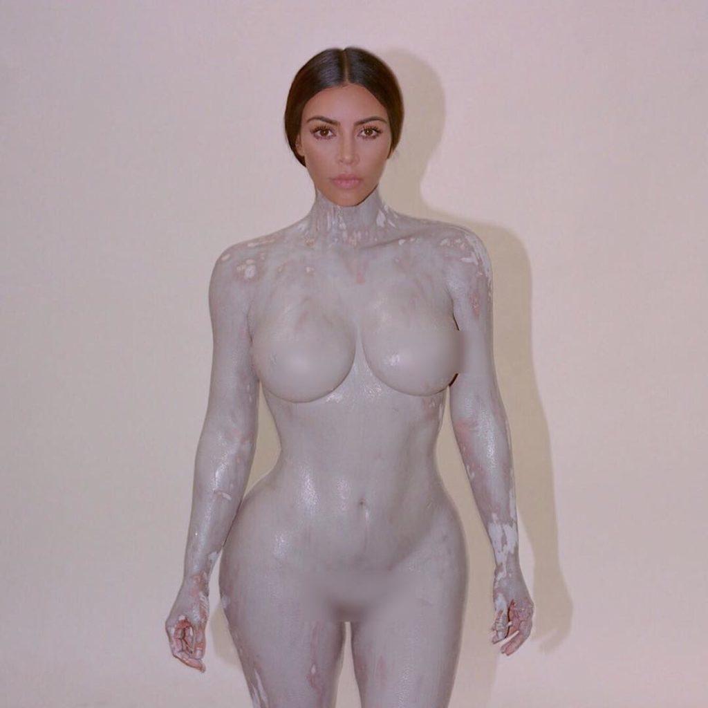 Kim K body paint