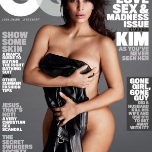 the cover of kim kardashian's GQ magazine issue