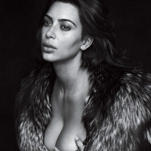kardashian grabbing her topless tits for gq magazine