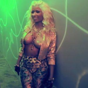 nicki minaj topless for music video