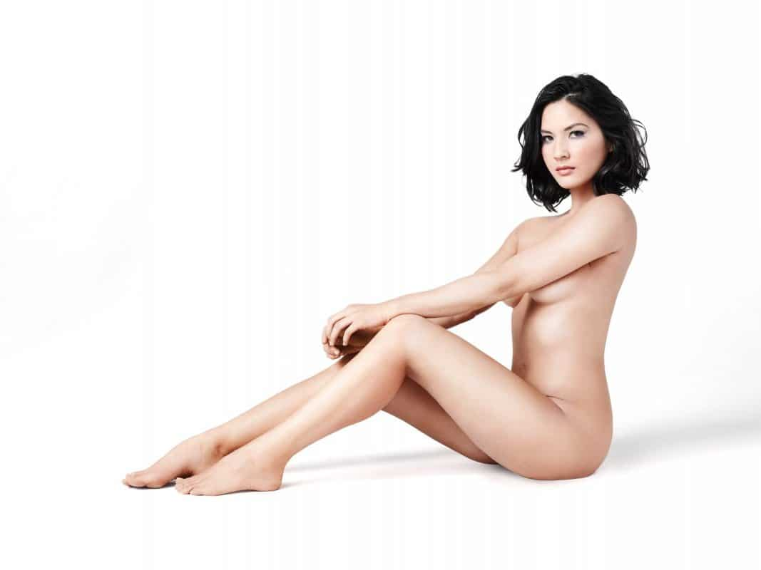 Olivia Munn naked modeling shoot