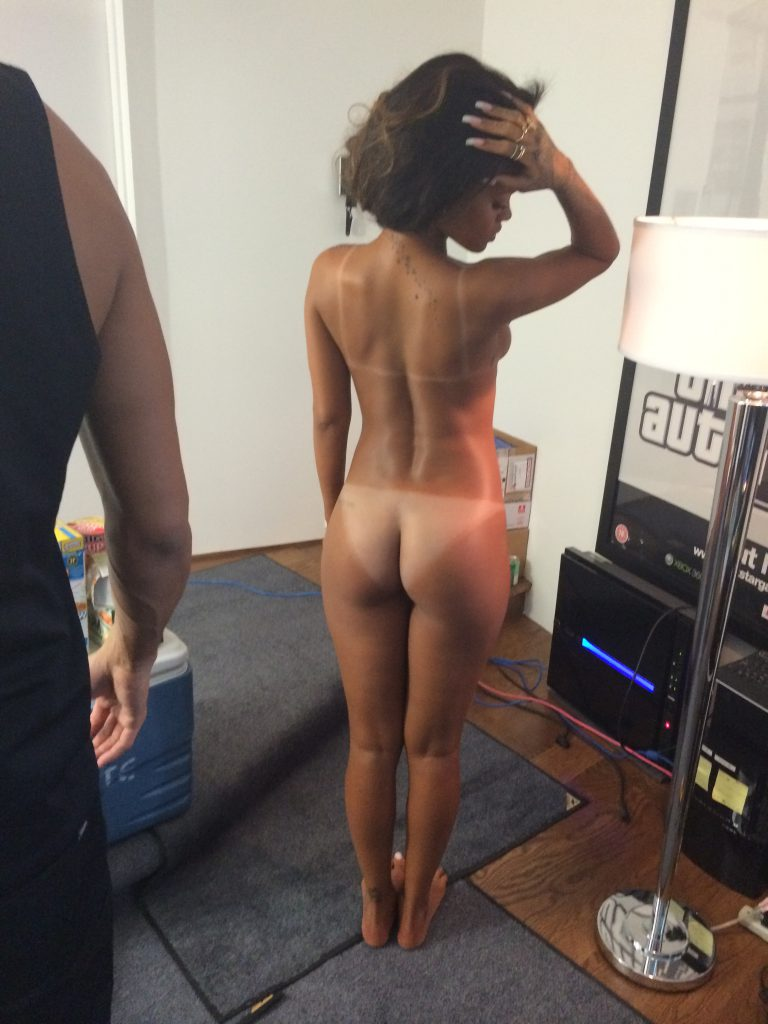 naked tanlines of Rihanna leaked