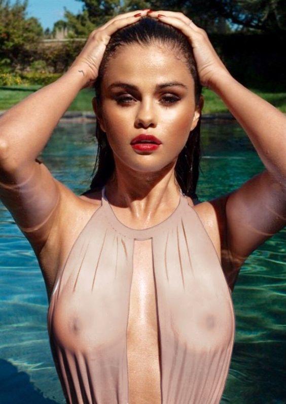 singer selena gomez nipples visible