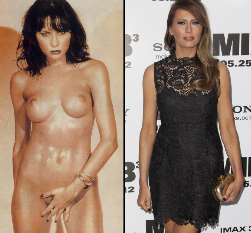 Melania Trump totally unclothed and standing