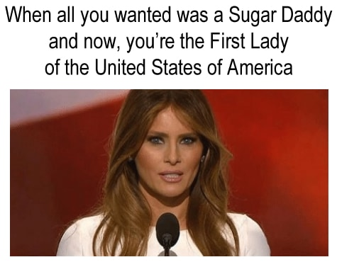 melania trump sugar daddy meme