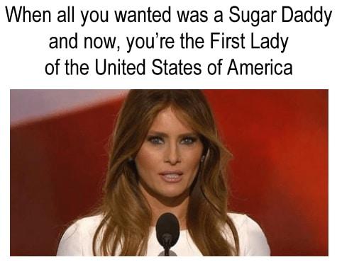 melania trump sugar daddy meme