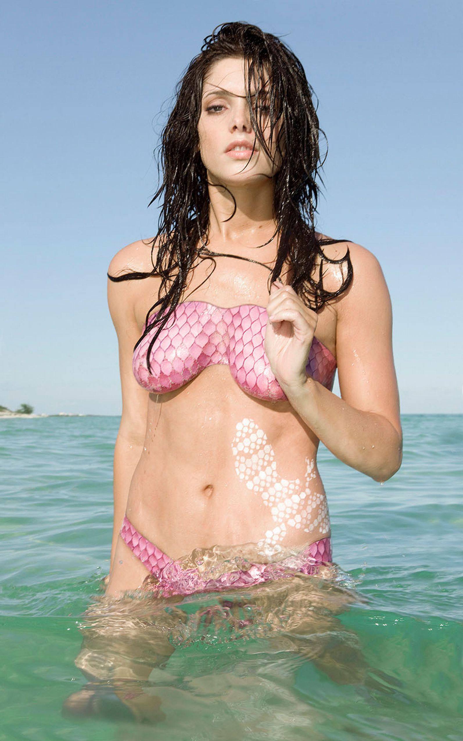 Ashley Greene body paint shoot (4)