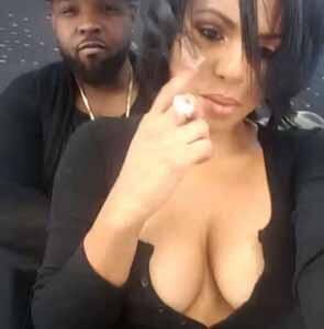 amazing cleavage of Christina Milian in hot snapchat