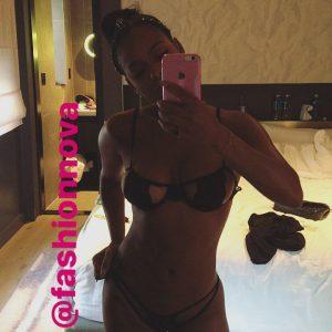 selfie snapchat of Christina Milian