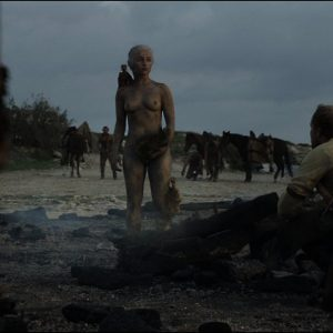 totally naked emilia clarke in the mud
