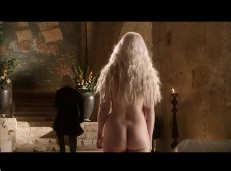 sexy emilia clarke showing off her nude body and ass
