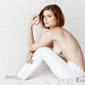 actress kate mara models topless for esquire magazine