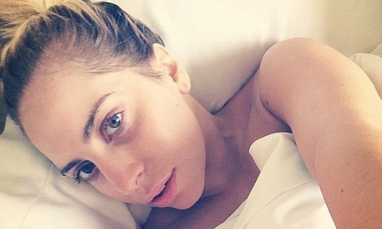 Lady Gaga naked in bed
