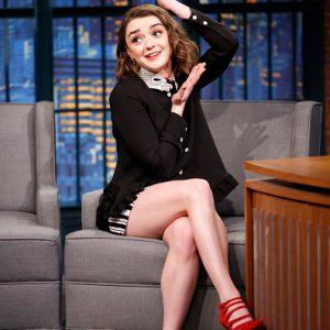 Maisie Williams talk show legs crossed