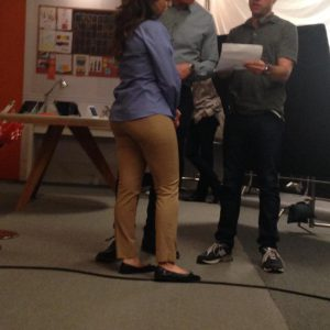 sneaky pic of milana vanytrub's booty while shooting at&t commercial